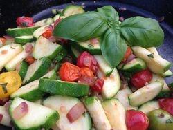 Sauteed Zucchini & Cherry Tomatoes