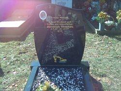 Sandblast design added to existing headstone