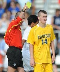 David Erbacher Tells Player to Get Off Field
