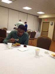My son Stephon enjoyed the breakfast!