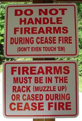 General Safety Sign on Pistol & Rifle Ranges
