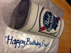 Pabst Beer Can Cake