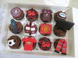 50th Birthday Personalised Cupcakes