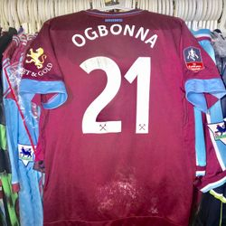 Angelo Ogbonna worn and unwashed FA Cup shirt.