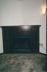 Walnut stain mantle