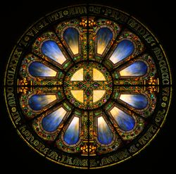 Tiffany, Rose Window, Vassar College