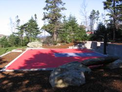 30 1/2x50 1/2 Concrete Pad for Basket Ball Court