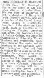 Barrick, Rebecca 1965