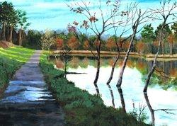 French Village lake.