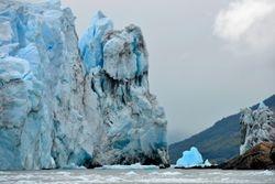 The edge of the Perito Moreno glacier.