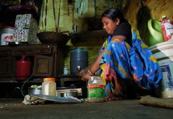 Lila Devi cooking