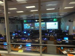 Houston... we have a problem... yes, this is Mission Control. we were sitting where the wives get to watch it all.