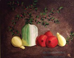 Pears & Pomegranetes, 20X12, SOLD