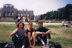 With Vera & Eugen, Viena, Austria, 1994