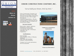Orion Construction Company Inc