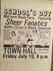 Schools Out Gig Christchurch Town Hall 1981