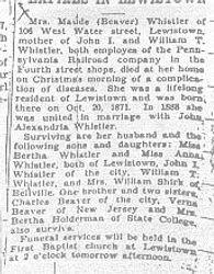 Whistler, Maude Beaver 1933