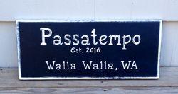Passatempo restaurant sign