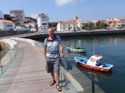 John on the foot bridge in Camarinas