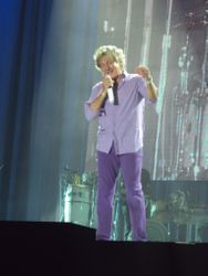Rod in purple shirt and trousers