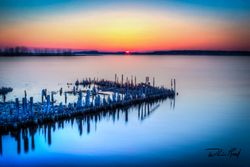 Heritage Pilings Sunset Soft