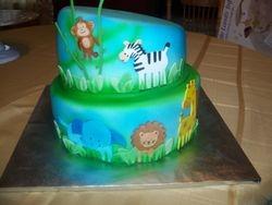 Baby Animals Cake Airbrushed