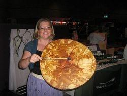 Stella with The world drum.