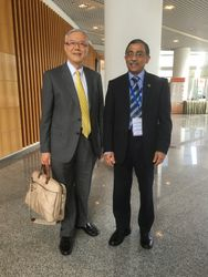 Prof William Wei with Shahed Quraishi