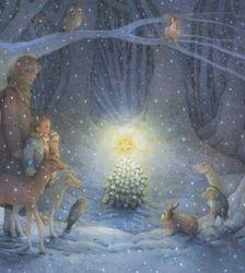 Kerst in het bos