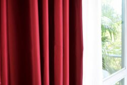 Luxury Fine Red Silk Satin  Blackout Curtains Panel Grommet 54W X 104L