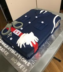 Graduation Police Officer Cake