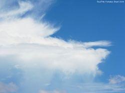 Clouds. Virga.
