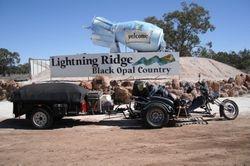 Trike & Trailer at Lightning Ridge