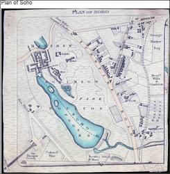 Map of Soho. c1800.