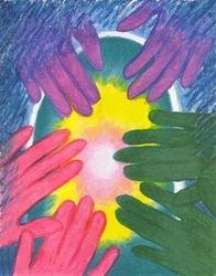 Tender Care of the Beloved, Oil Pastel, 11x14, Original Sold
