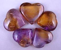 09-00341 Ametrine Polished Hearts