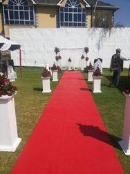 wedding red carpet walkway