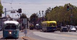 Historic Streetcars on The Embarcadero