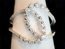 Diamond Twist ring in 14k