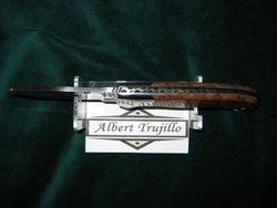Albert Trujillo - Amboyna Burl Scales -S30V Steel- Custom File Work