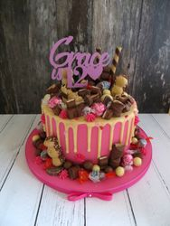Grace's 12th Birthday drip cake