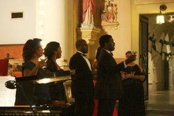 SInging the Brindisi from Traviata