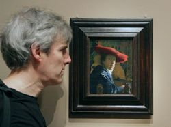 Vermeer, Woman in a Red Hat, Washington, DC, National Gallery