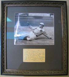 Ty Cobb SIGNED AUTO Postcard With JSA LOA