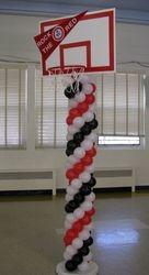 March Madness Hoop Balloon Column