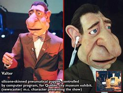 """VALTER"" pneumatic audio animatronic character"