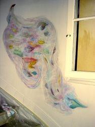 "mural "" temptation/salvation"" private commission, France"