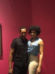 Derrick Christopher attend the R&B LIVE Presents Demetria McKinney - Movie Grill
