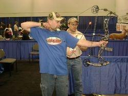 Matt shoots the 2010 Limbsaver Proton Bow