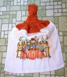 Fall Harvest Scarecrow Kitchen Towel